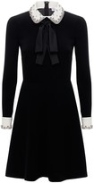 Thumbnail for your product : RED Valentino Exclusive Embellished Crepe Mini Dress