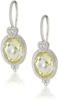 Judith Ripka La Petite Oval Stone with Heart On Drop Earrings