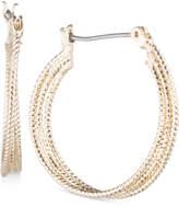 Nine West Multi-Row Textured Hoop Earrings