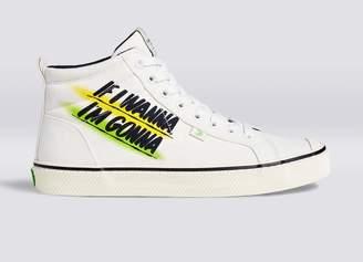 Cariuma OCA High Stripe Off White Baron Von Fancy Canvas Sneaker Men
