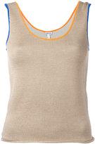 Loewe contrast trim knitted vest - women - Silk/Polyamide - XS