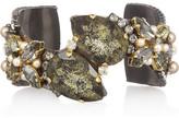 Erickson Beamon Swarovski crystal and pearl cuff