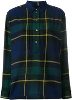 Burberry tartan wool flannel tunic shirt