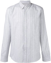 Brunello Cucinelli striped button down shirt - men - Cotton/Linen/Flax - S