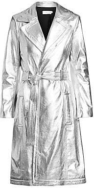 A.L.C. Women's Bennet Metallic Leather Trench Coat
