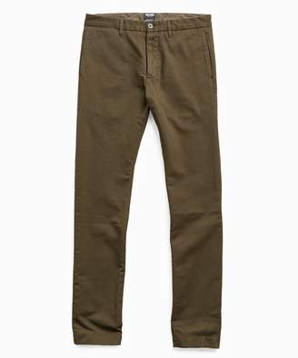 Todd Snyder Japanese Garment Dyed Selvedge Chino in Peat