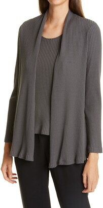 Eileen Fisher Rib Knit Cardigan