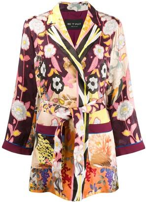 Etro Belted Jacquard Jacket