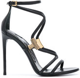 Tom Ford metallic detail sandals - women - Calf Leather/Leather - 41