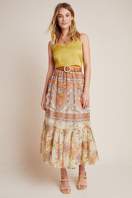 Mes Demoiselles Gianna Flounced Maxi Skirt By in Assorted Size 6