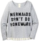 Over The Top Mermaids Don&t Do Homework Split Back Top (Big Girls)