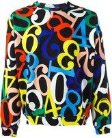 Love Moschino numbers print sweatshirt
