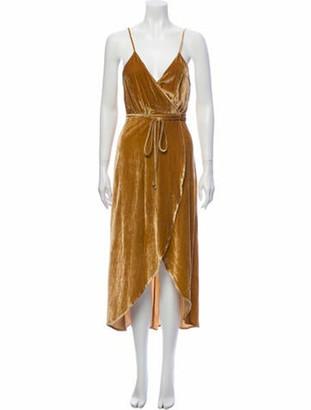Reformation V-Neck Long Dress w/ Tags Gold