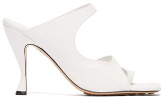Bottega Veneta Cutout Leather Mules - Womens - White
