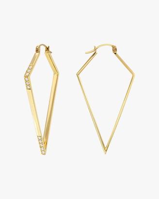 Dru White Diamond Amulet Hoops
