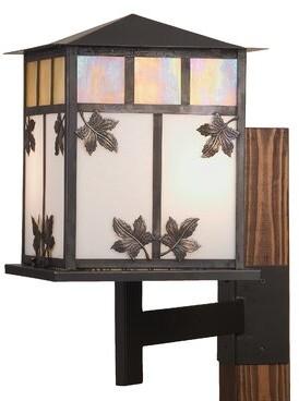 Seneca Leaf 2-Light Outdoor Wall lantern Meyda Tiffany