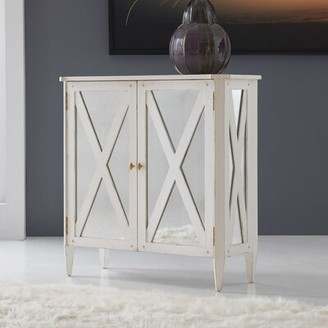 Modern History Home 2 Door Mirrored Accent Cabinet Home