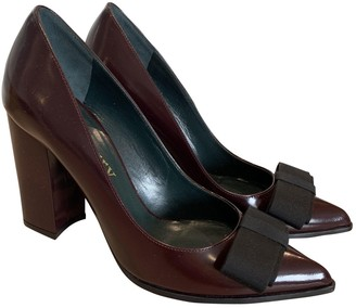 Mulberry Burgundy Leather Heels