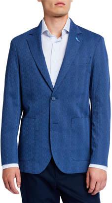 Tailorbyrd Textured Seersucker Sport Coat, Navy