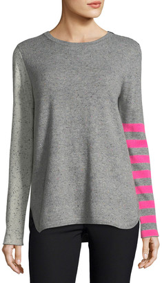 LISA TODD Petite Pop Rocks Cashmere Striped Sweater