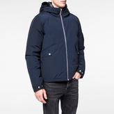 Paul Smith Men's Navy Shower-Proof Cotton-Blend Down Jacket