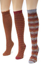 Muk Luks 3-Pack Fuzzy Yarn Knee High Socks