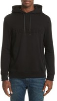 Neil Barrett Men's Logo Embossed Side Zip Hoodie