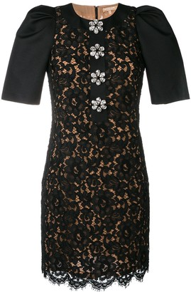 Michael Kors Collection Floral Lace Dress