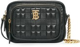 Burberry small quilted check camera bag