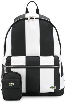 Lacoste Striped Print Backpack