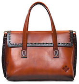 Patricia Nash Burned Veg Tan Collection Asti Flap Satchel