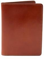 Frank & Oak Leather Passport Sleeve in Cognac