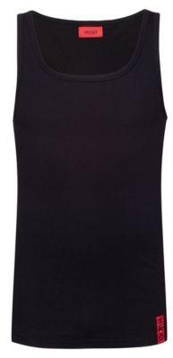 HUGO Slim-fit tank top with vertical logo