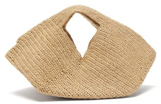 LAUREN MANOOGIAN Mini Pinwheel Woven Bag - Beige