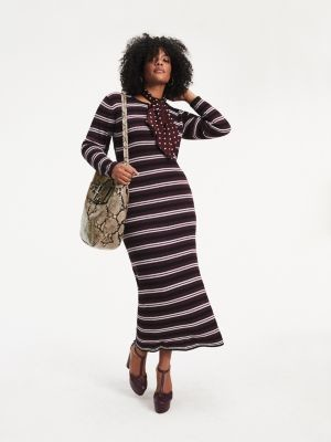 Tommy Hilfiger Zendaya Curve Metallic Knit Maxi Dress