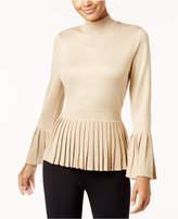 Thalia Sodi Pleated Peplum Sweater, Created for Macy's