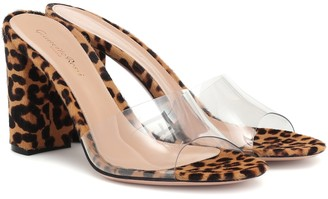 Gianvito Rossi Exclusive to Mytheresa Vivienne 85 calf-hair sandals