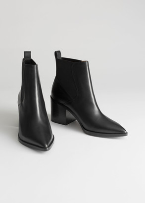 And other stories Chunky Chelsea Leather Boots