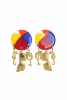 Mam MAM' Beach Ball Clip Earrings