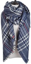 IvyFlair Winter Warm Plaid Patterned Knit Soft Blanket Scarf Shawl
