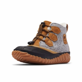Sorel Girl's Boots Youth Out N About Plus Felt Grey (Quarry/Camel Brown) Size: UK Child 1