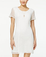 City Studios Juniors' Crochet V-Back Dress