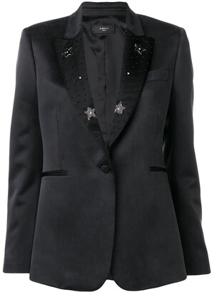 Amiri Beaded Lapel Blazer