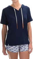 Lucky Brand French Terry Pullover Hoodie - Cotton Blend, Short Sleeve (For Women)