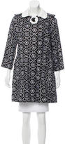 Andrew Gn Floral-Embroidered Knee-Length Coat
