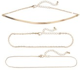 BP Women's Set Of 3 Link Necklaces