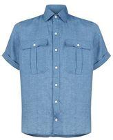 Richard James Chambray Linen Pocket Shirt