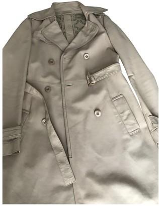 Patrizia Pepe Beige Leather Coat for Women