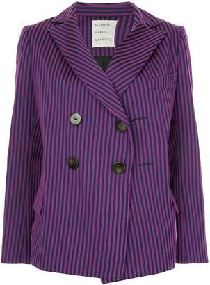 Maison Rabih Kayrouz striped double breasted blazer