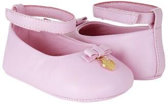 Dolce & Gabbana Kids Leather Bow Ballet Flats
